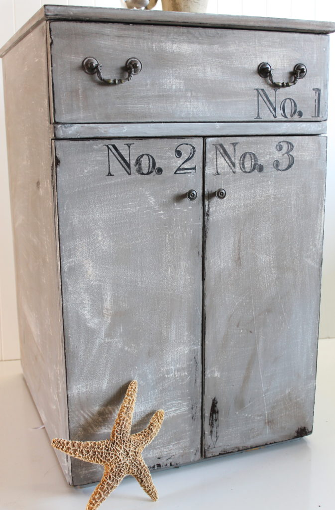 French Gray Cabinet