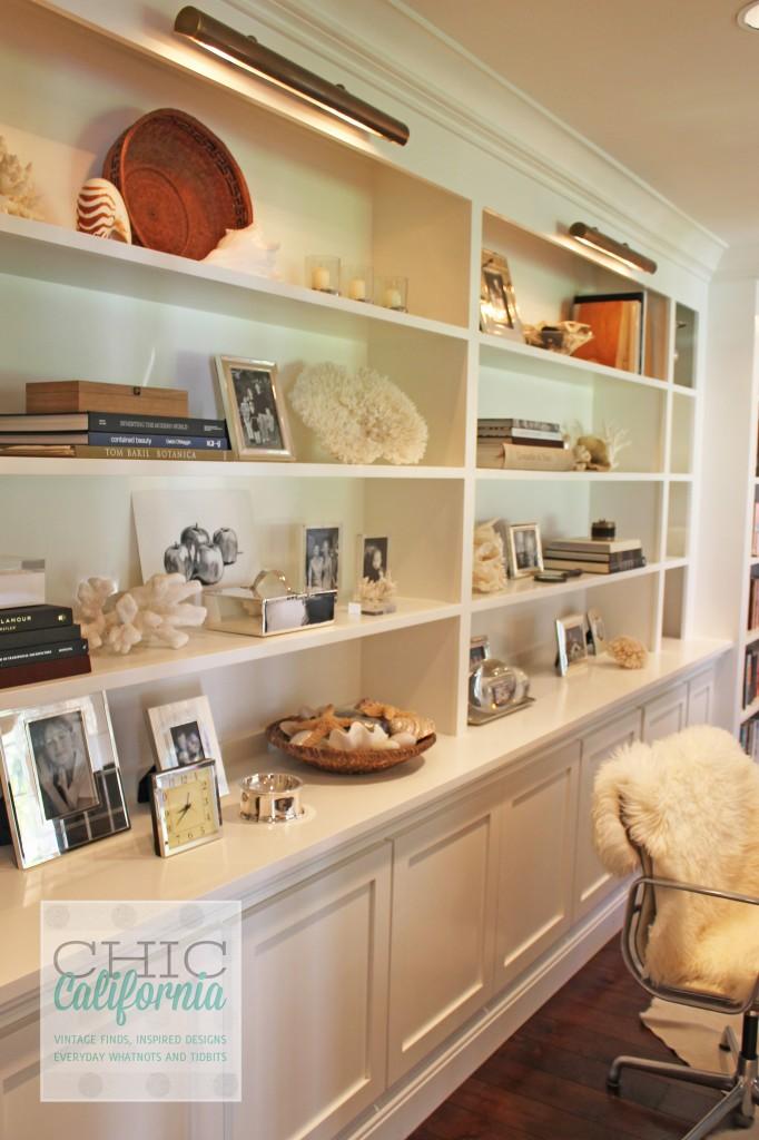 home office, shelves, shelf displays
