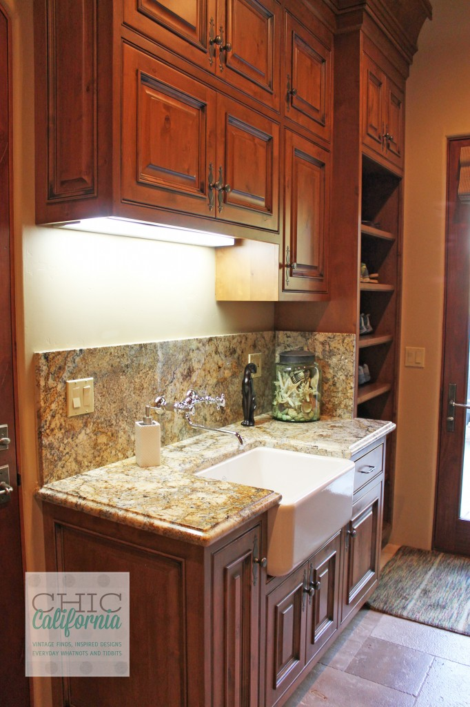 mudroom sink, custom cabinets, farmhouse sink, mudroom storage