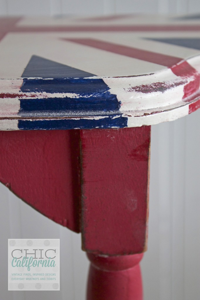 Side of Union Jack Table