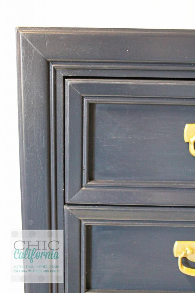front corner coastal blue dresser