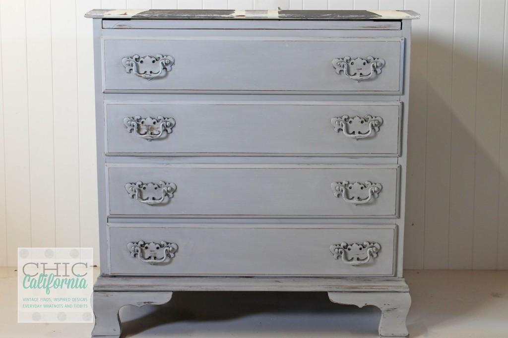 union jack dresser, gray dresser, gray painted dresser, annie sloan paris gray, paris gray dresser