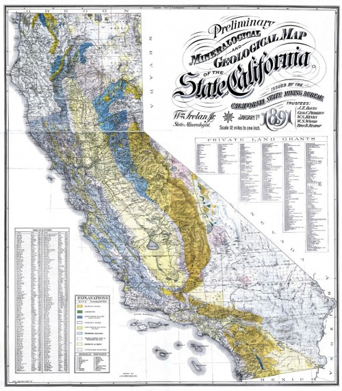 Vintage California Geology map