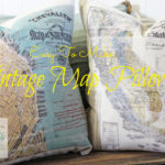 Easy Vintage Map Pillows