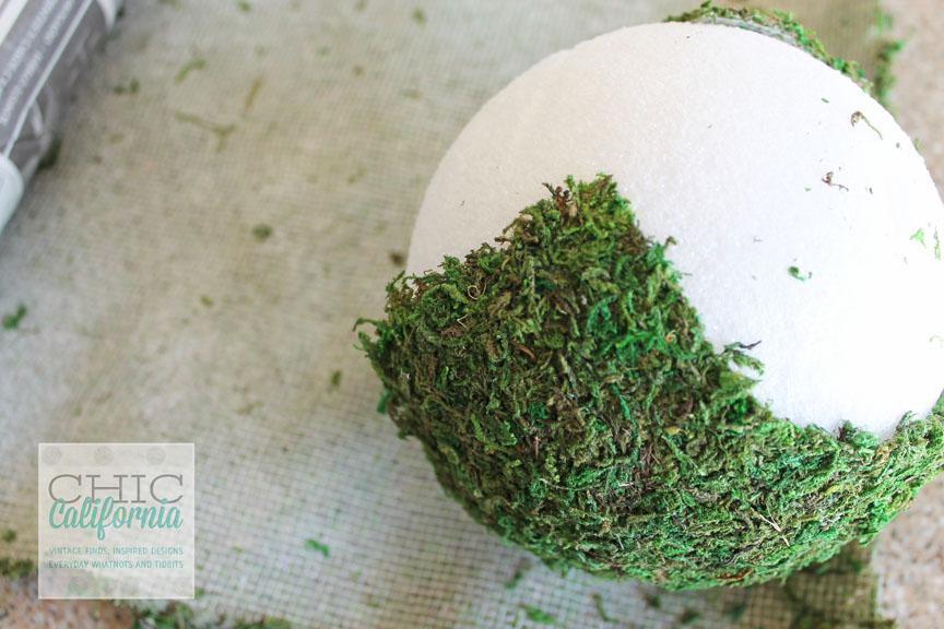 First step of DIY garden Balls
