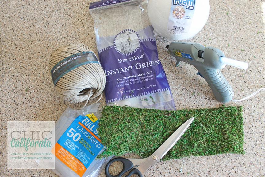 DIY Moss Covered Garden Balls