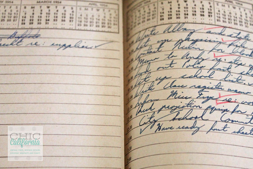 Vintage Appointment Book