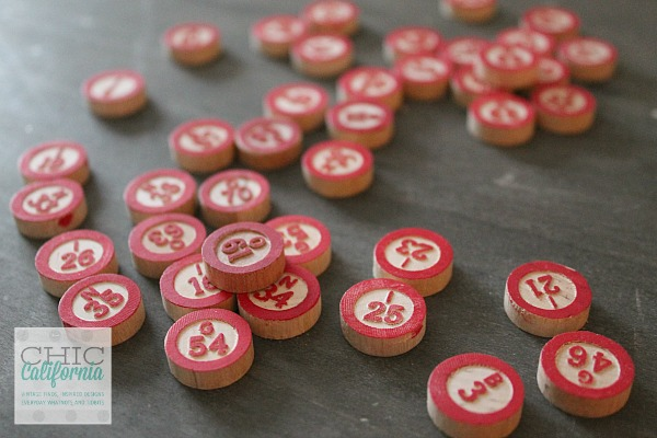 vintage bingo chips