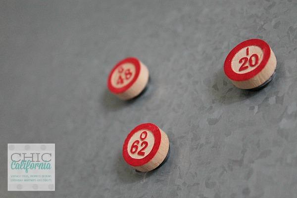 finished bingo magnets