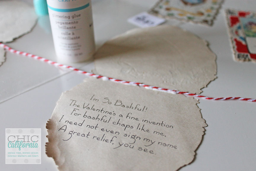 Red Butchers twine craft