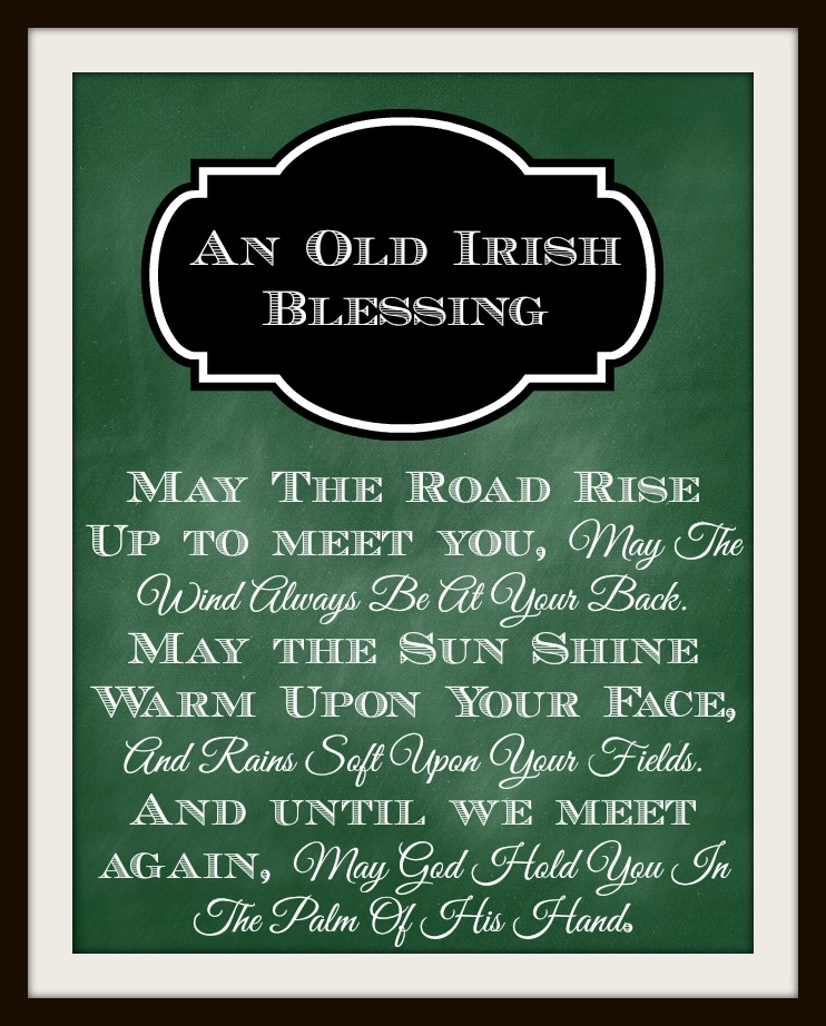 An Old Irish Blessing Printable