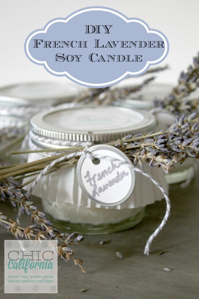 DIY French Lavender Soy Candle