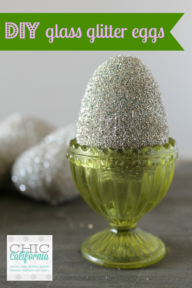 DIY Glass Glitter Easter Egg Tutorial from www.chiccalifornia.com