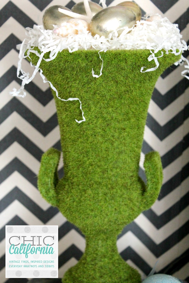 Moss Covered Spring Urn