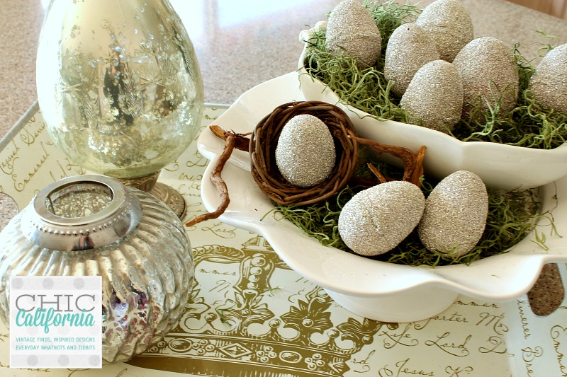 german glass glitter easter eggs