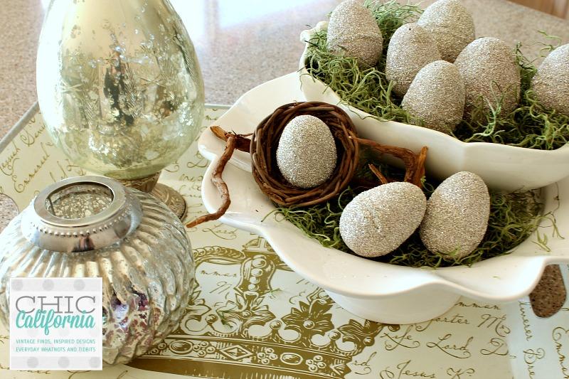german glass glitter easter eggs