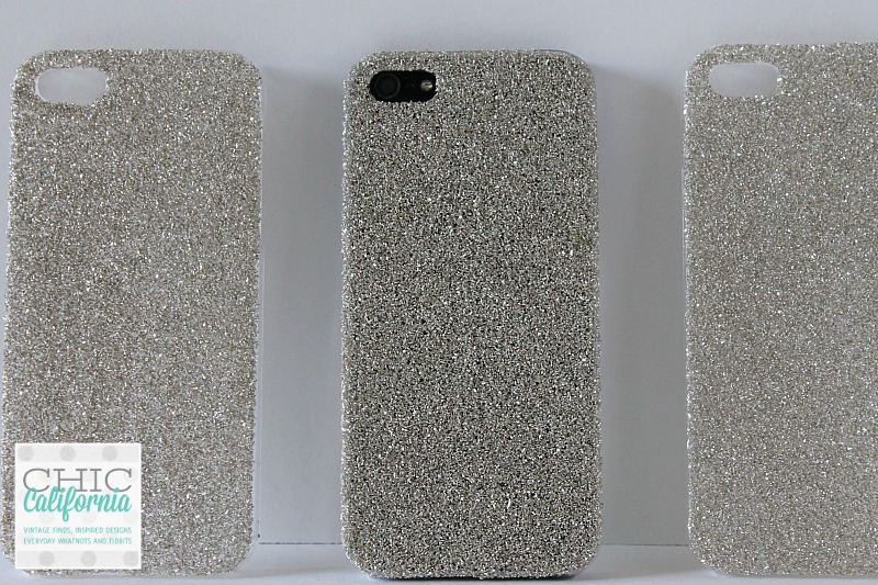 glittered phone case DIY Glass Glitter iPhone Case