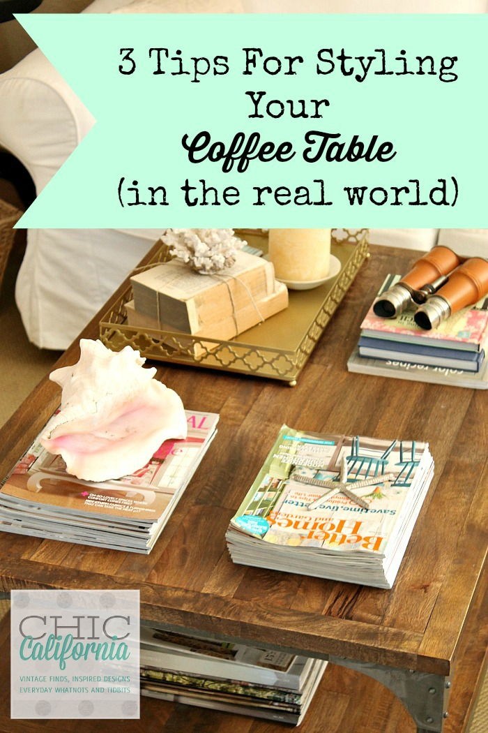 What To Put On A Coffee Table inspired design monday: 3 tips for styling your coffee table in