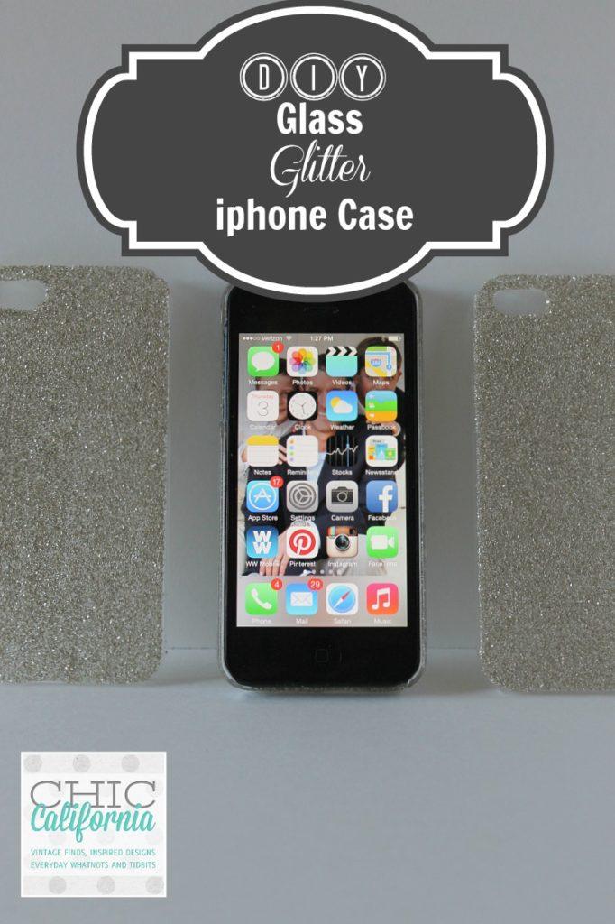 DIY Glass Glitter iphone Case