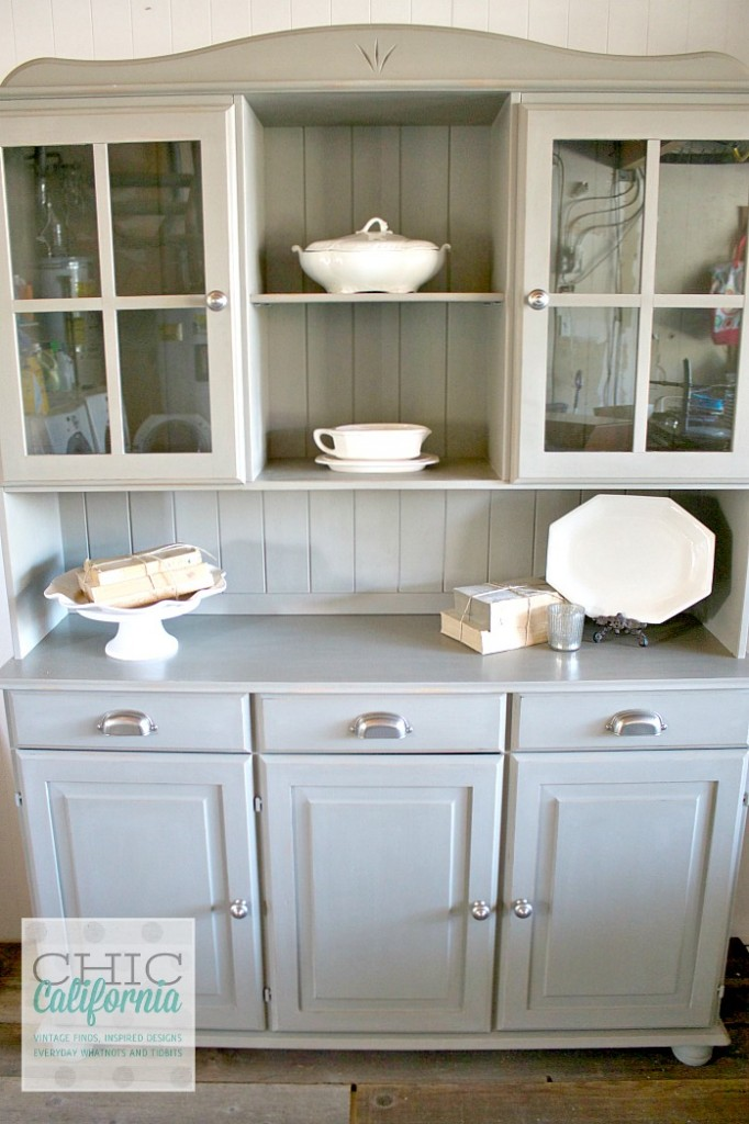 Pine Hutch Painted in French Linen