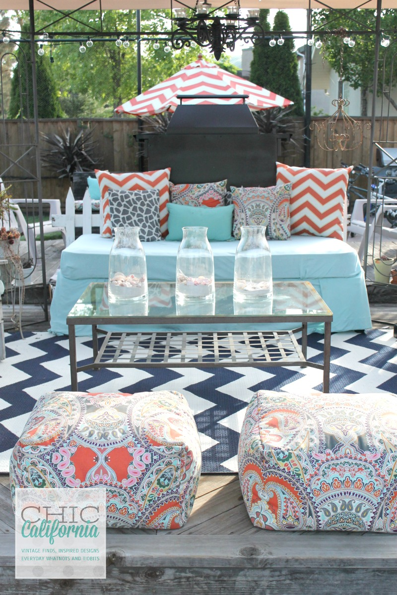 Most of my cushions and pillows were purchased last year at Cost Plus World  Market  They have some beautiful pillows this year too that you can mix and. How to Clean Your Outdoor Furniture Cushions   Chic California