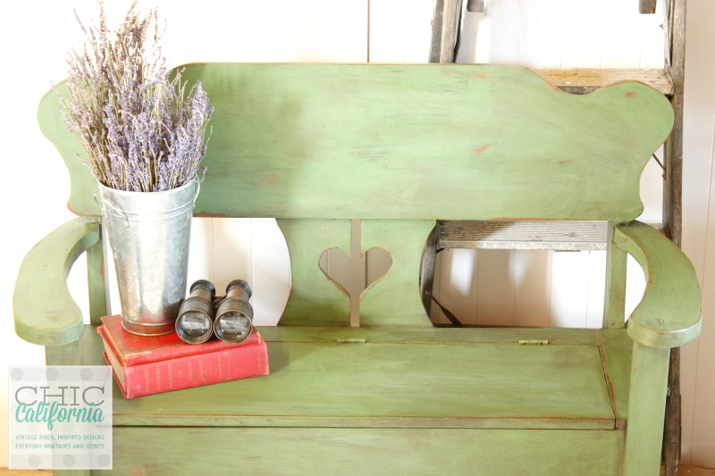Cute Green Bench from Chic California