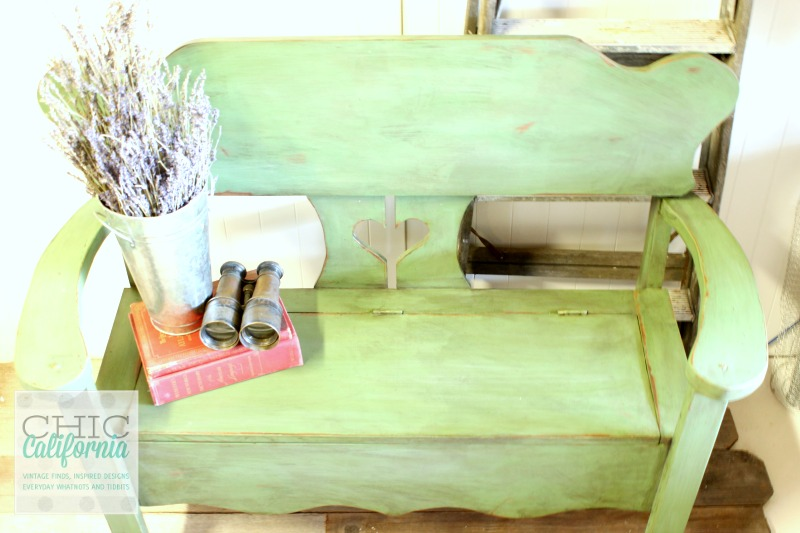 Bench Painted in Sweet Pickins Milk Paint by Chic California