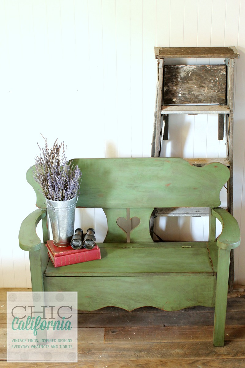Finished Green Bench