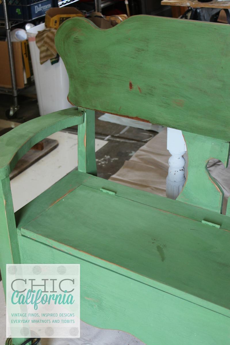 glazed bench