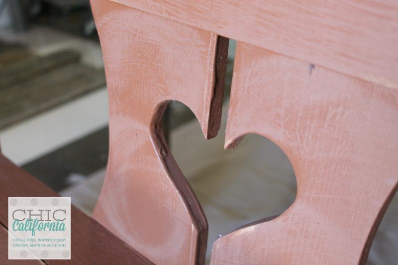 sanded bench