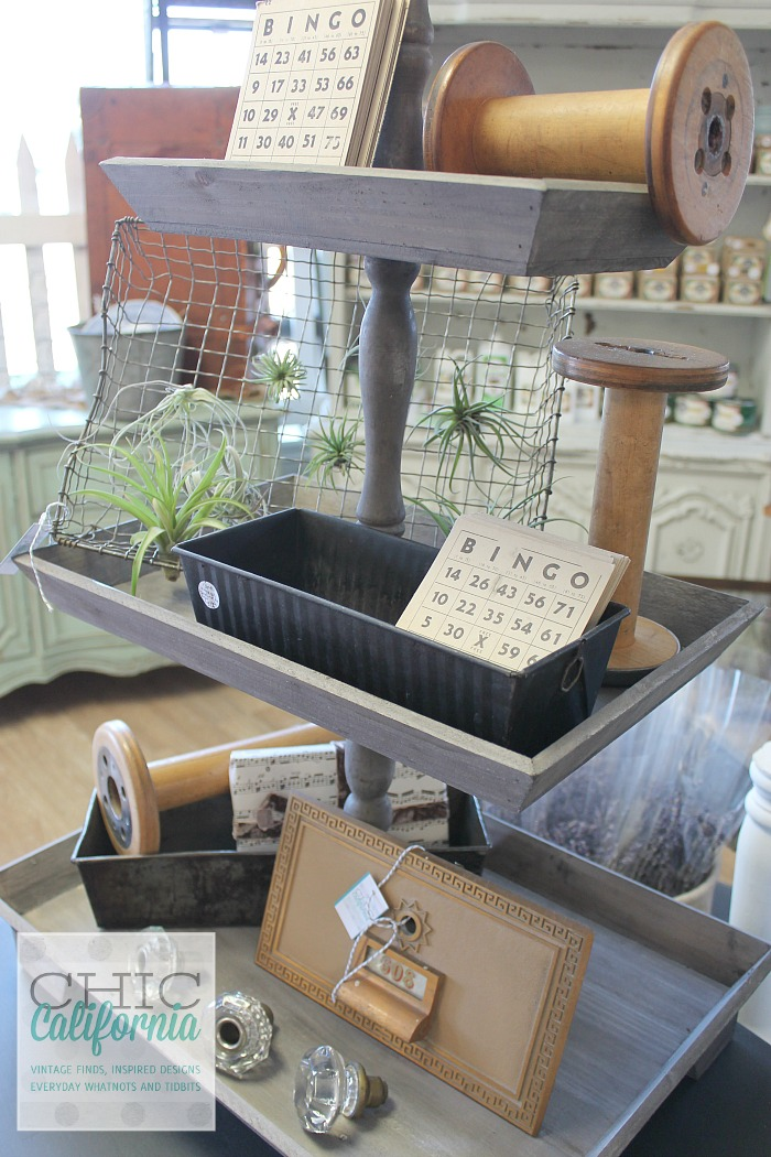 3 tier tray display from Chic California