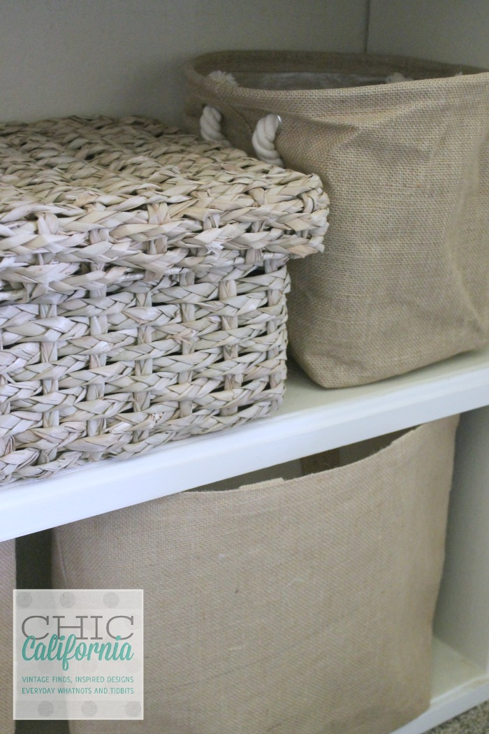 Baskets on Shelf from Chic California
