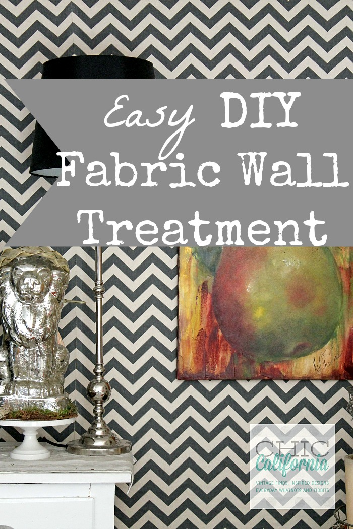 Easy Fabric Wall Treatment from Chic California