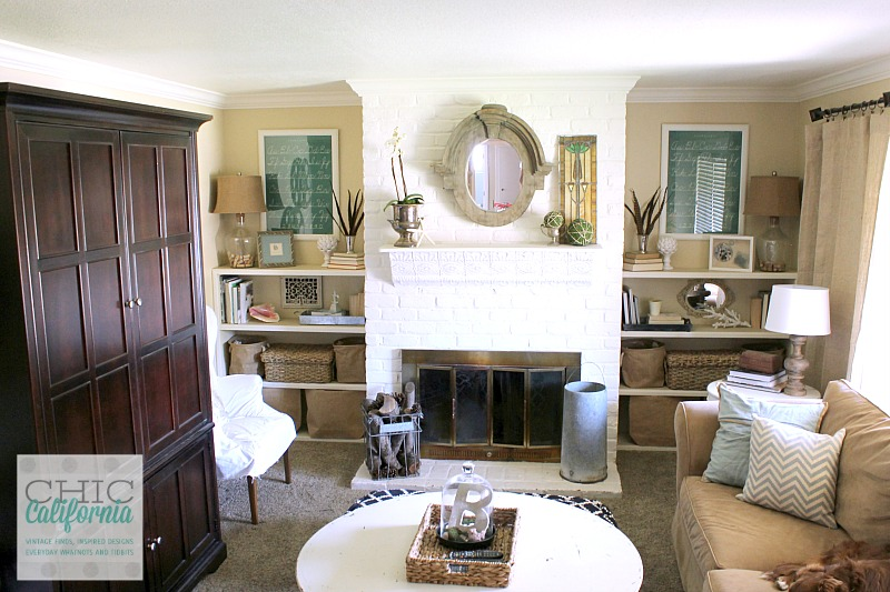 Vintage Living Room Tour from Chic California