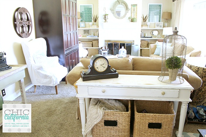 vintage style living room. Vintage Style Living Room Tour from Chic California