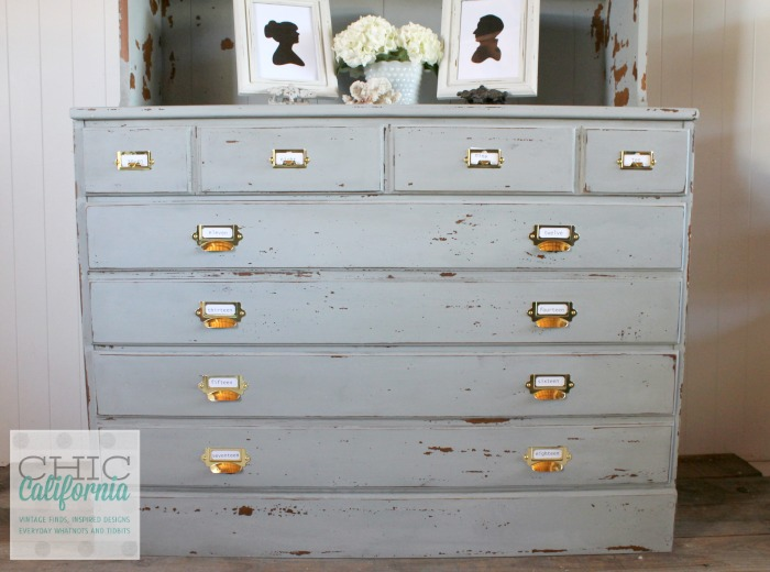 Gray Hutch Makeover by Chic California