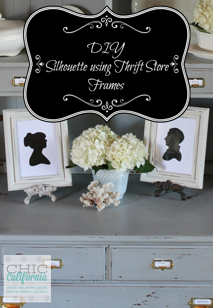 DIY Silhouette Using Thrift Store Frames