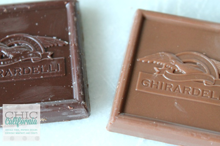 Ghirardelli Choclate Squares for San Francisco Smores