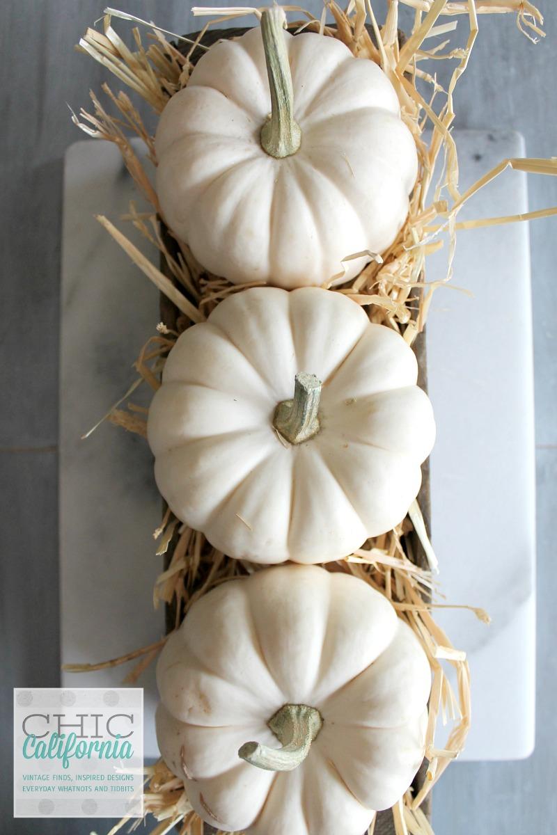 Fall Home Tour 3 pumpkins
