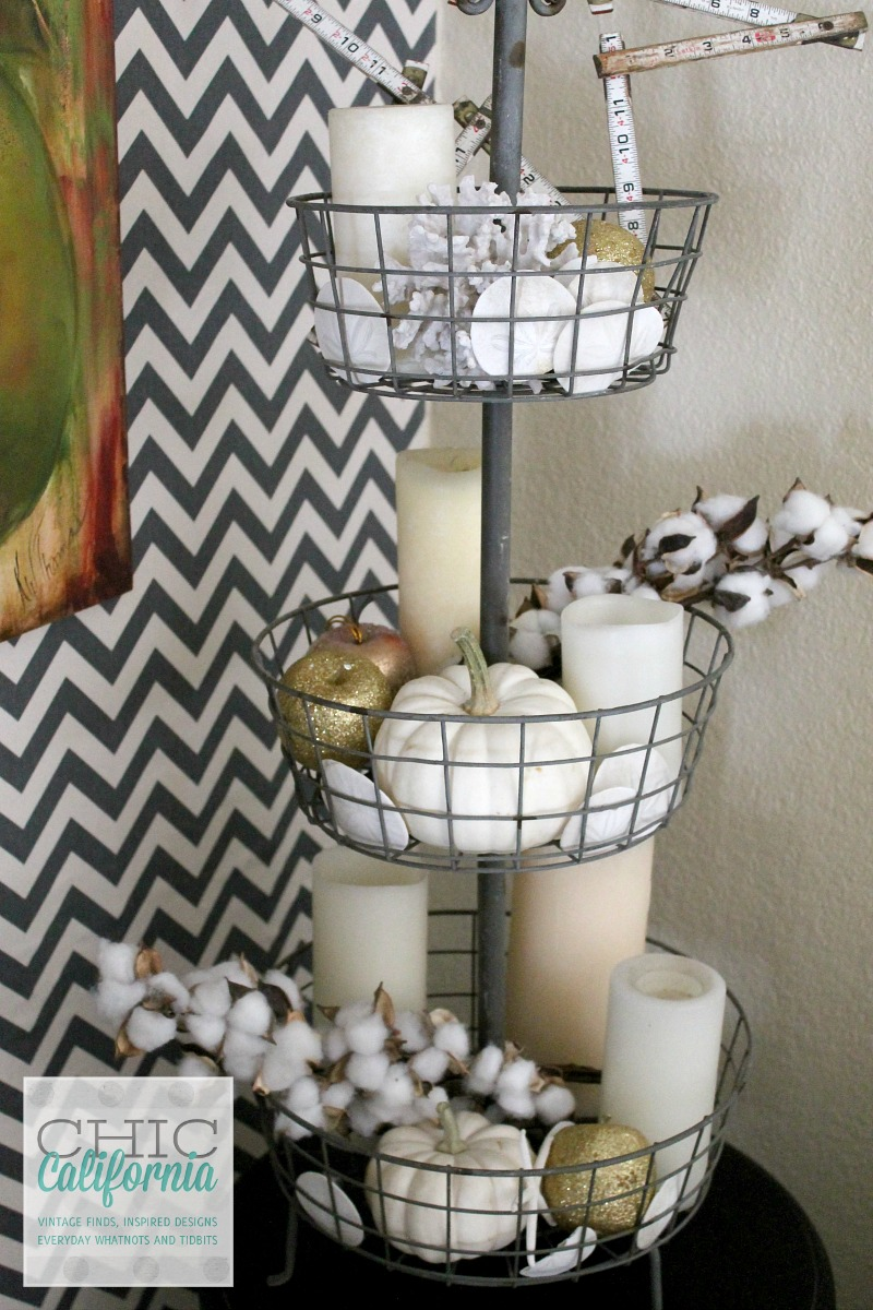 Fall Home Tour 3 tier basket