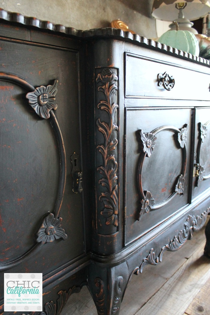 Black Milk Paint Buffet by Chic California