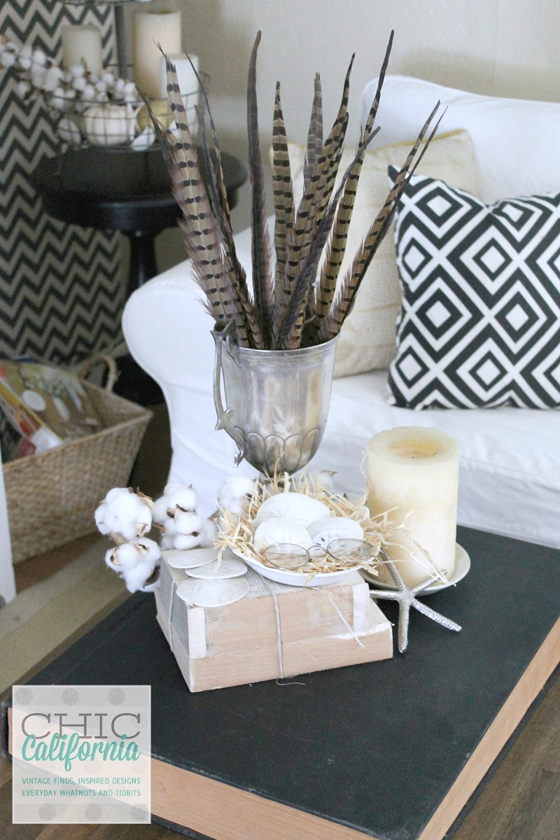 Fall Home Tour Vintage Coffee Table display by Chic California