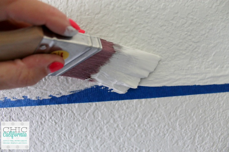 painting over tape in gray owl