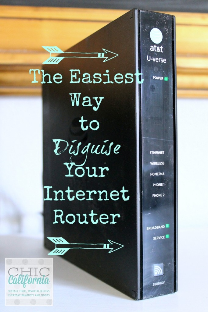 The Easiest Way to Disguise Your Internet Router by Chic California
