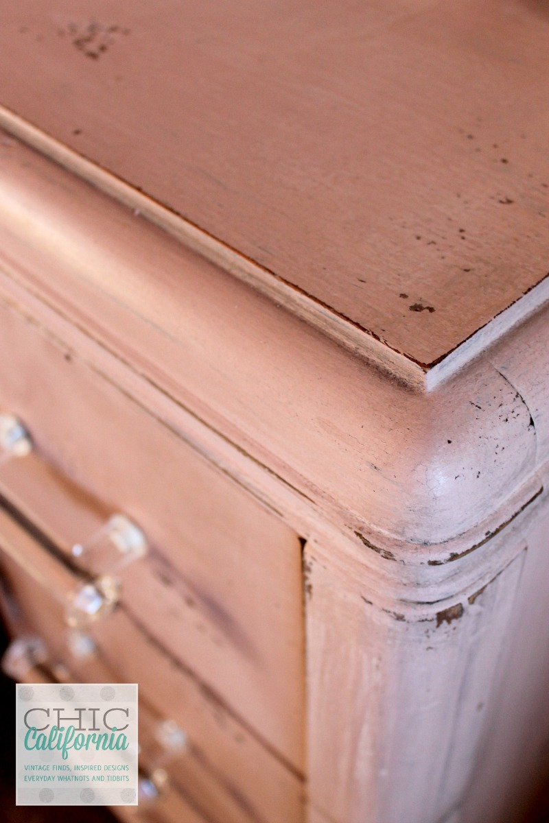Milk Paint Pink Vanity by Chic California
