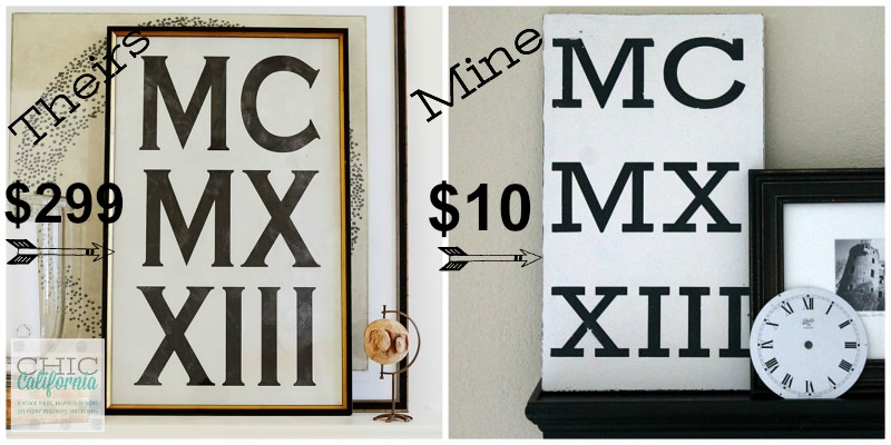 Pottery Barn Roman Numeral Art Print Knockoff
