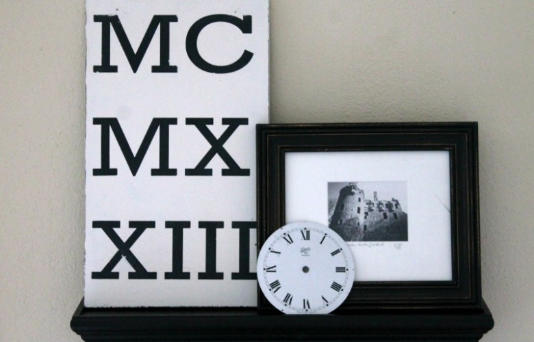 Pottery Barn Roman Numeral Art Knockoff