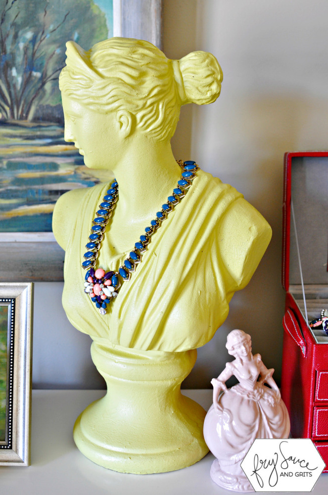 Spray-Painted-Bust-Jewelry-Holder-FrySauceandGrits.com_