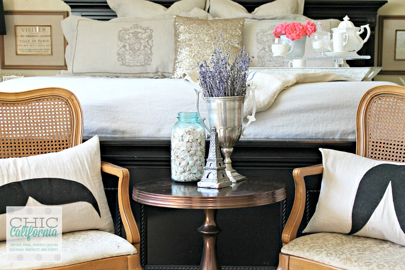 Cane Chairs in Chic California Master Bedroom Makeover