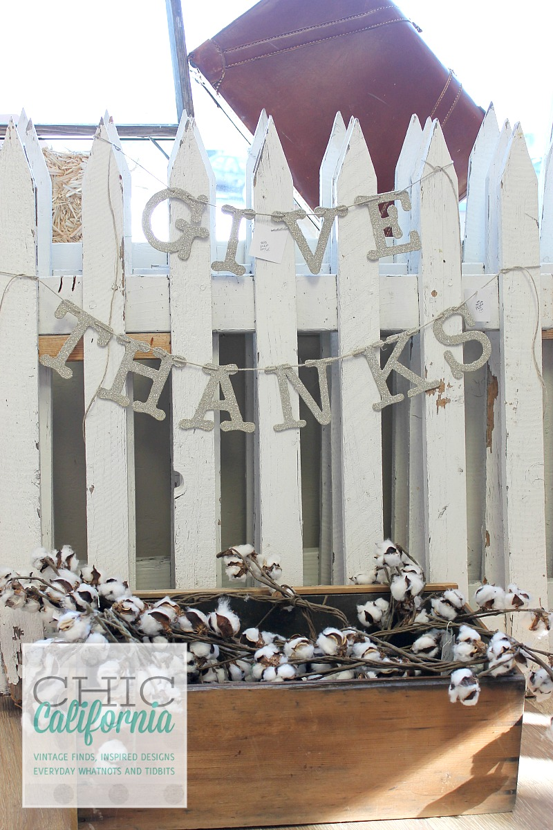Give thanks glass glitter sign